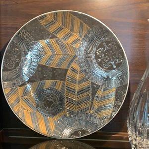 Modern Decorative metallic metals Leaf plate